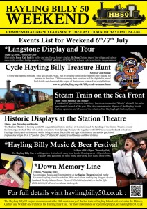 Hayling Billy 50 Weekend Poster
