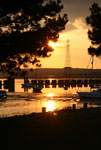 Sunset on Hayling Island - Langsone Harbour