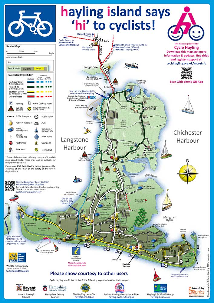 Cycle Map of Hayling Island