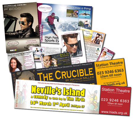 Posters, articles, adverts, flyers